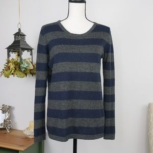 Forever 21 Scoop Neck Sweater Striped Medium